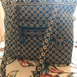 Vera Bradley tote with wallet in Riviera Blue